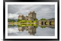 Reflections of Eilean Donan Castle, Framed Mounted Print