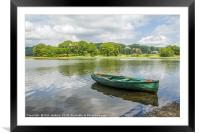Esthwaite Water and Boat Lake District, Framed Mounted Print