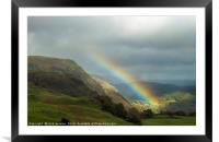 Rainbow over the Coniston Fells, Framed Mounted Print