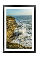 Waves at Nash Point South Wales, Framed Mounted Print