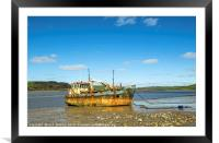 The Vicky Leigh at Ferryside Carmarthenshire, Framed Mounted Print