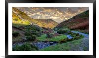 Carding Mill Valley, Framed Mounted Print