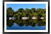 Boats at anchor on the River Leven at Balloch, Framed Mounted Print
