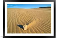 Beautiful sand dunes of the Rancho Guadalupe Dunes, Framed Mounted Print