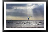 Kiteboarders at Cleveleys, Framed Mounted Print