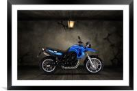 BMW F 650 Old Room, Framed Mounted Print
