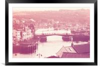 Whitby and River Esk - Retro finish, Framed Mounted Print