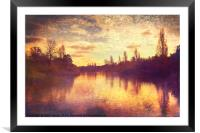 The Serpentine, Framed Mounted Print