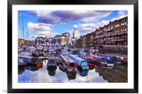 Limehouse Basin, East London, Framed Mounted Print