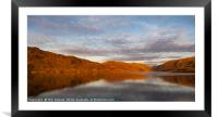 Golden Loch Glendu, Framed Mounted Print