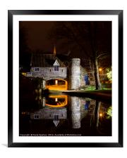 One minute of Pulls Ferry at Night., Framed Mounted Print