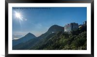 The view south of Hong Kong island, Framed Mounted Print