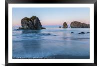 Oregon Coast , Framed Mounted Print