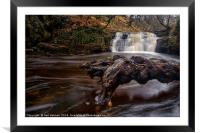 Scwd Tarddiant Waterfall, Brecon Beacons , Framed Mounted Print