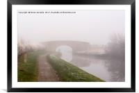 Misty Canal Scene, Framed Mounted Print