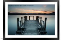 Sunset Jetty, Windermere in the UK Lake District, Framed Mounted Print