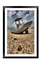 Old Dungeness Fishing Boat, Framed Mounted Print