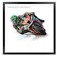 Motorcycle Racing, Framed Mounted Print