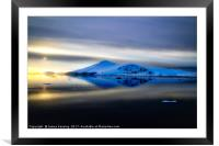 Antarctic sunset from the Lemaire Channel, Framed Mounted Print