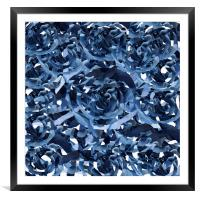 Abstract blue pattern , Framed Mounted Print
