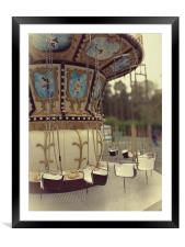 French carousel, Framed Mounted Print