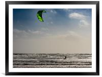 Para Surfing at Newgale.Pembrokeshire., Framed Mounted Print