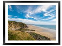 Newgale Beach, Pembrokeshire, Wales., Framed Mounted Print