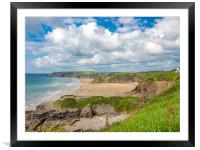 Little Haven and Broad Haven, Pembrokeshire., Framed Mounted Print
