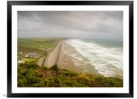 Newgale Storm., Framed Mounted Print
