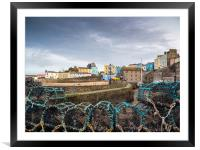 Tenby Harbour, Pembrokeshire, Wales., Framed Mounted Print