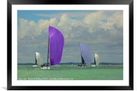 lendy Cowes race, Framed Mounted Print