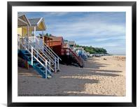 Beach Huts Wells next the Sea North Norfolk, Framed Mounted Print