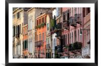 The elegant and refined architecture of Venice, Framed Mounted Print
