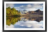 The Langdale Pikes Reflecting, Framed Mounted Print