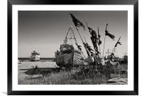 Hastings Fishing Boat, Framed Mounted Print