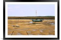 Beached Boat, Framed Mounted Print
