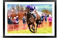 Point to Point Racing, Framed Mounted Print
