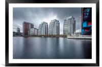 Quay Apartments Salford Quays, Manchester, Framed Mounted Print