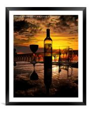 Sunset relaxation, Framed Mounted Print