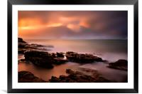 Sunset at Westpoint - Tasmania - Australia       , Framed Mounted Print