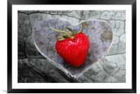 Strawberry Heart, Framed Mounted Print
