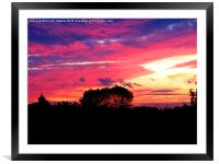 """""""Red Sky at Night"""", Framed Mounted Print"""