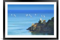 Dartmouth Castle and Church, Framed Mounted Print