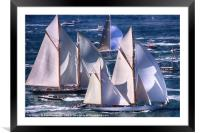 Yachts off The Isle of Wight, Framed Mounted Print