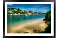 Salcombe from Mill Bay Beach, Framed Mounted Print