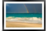 Caribbean Rainbow, Framed Mounted Print