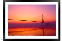 Dawn at The Pont De Normandie, Framed Mounted Print