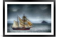 The Tres Hombres in Torbay (textured), Framed Mounted Print