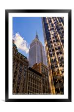 The Streets of New York - Empire State Building, Framed Mounted Print