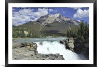 Athabasca Waterfalls, Jasper National Park, Canada, Framed Mounted Print